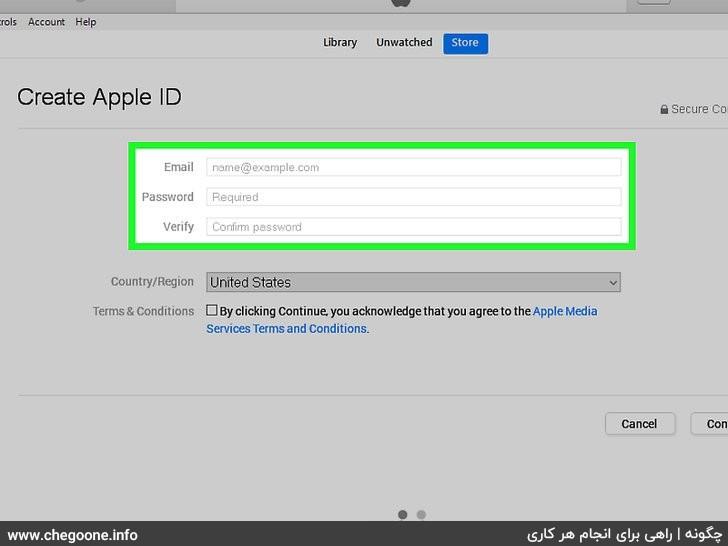 چگونه اپل آیدی بسازیم (0 تا 100 ساخت اپل آی دی)