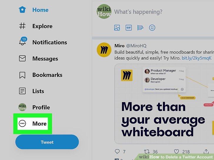 چگونه یک حساب کاربری توییتر را حذف کنیم