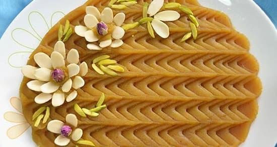 چگونه حلوا زعفرانی سنتی درست کنیم