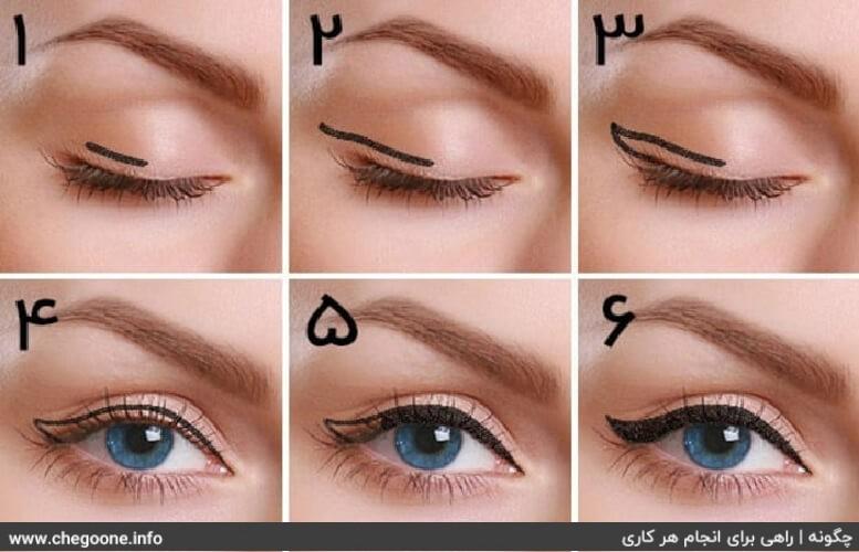 چگونه خط چشم بکشیم