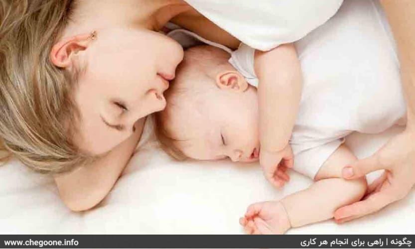 چگونه نوزاد را بخوابانیم
